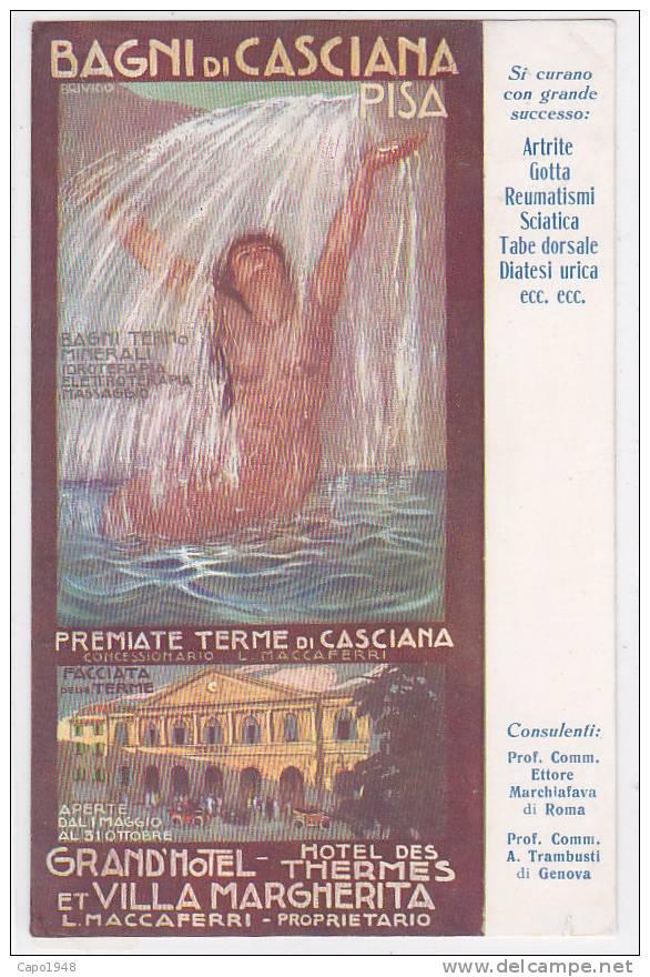 CARD BAGNI DI CASCIANA PUB. TERME FIRMATA BRIVIDO(PI)   -FG-V-2-  0882-7090 - Italien