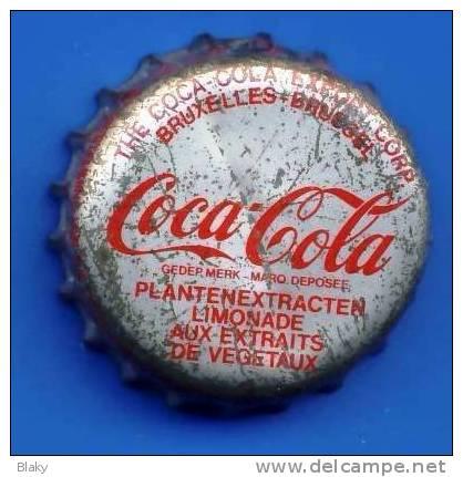 Très RARE..1975-1980!!COCA Cola BRUXELLES BRUSSEL--CLAUDE FRANCOIS 8-8-49 -MARION DES CLODETTES Indiqué Sur Bord Capsule - Soda