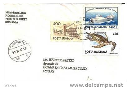 Bl138/  RUMÄNIEN - Brief Mit Mischfrankatur - 1948-.... Républiques