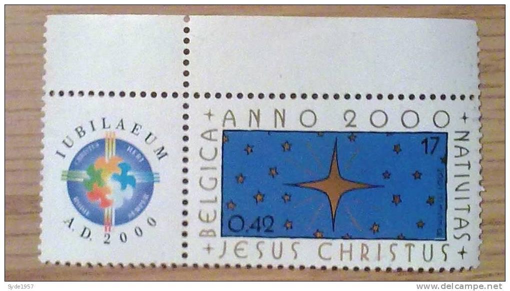 Stamp Jubilaeum A.D. 2000 - Belgica - Anno 2000 - Nativitas - Jesus Christus