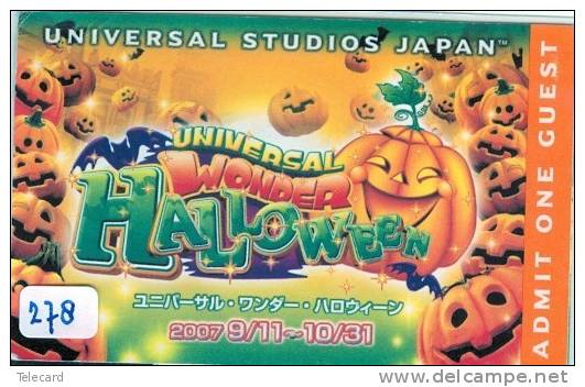 TICKET PASSPORT DISNEY Japon (278) HALLOWEEN * JAPAN * PASS * UNIVERSAL STUDIOS *  CINEMA * FILM * MOVIE * KINO - Disney
