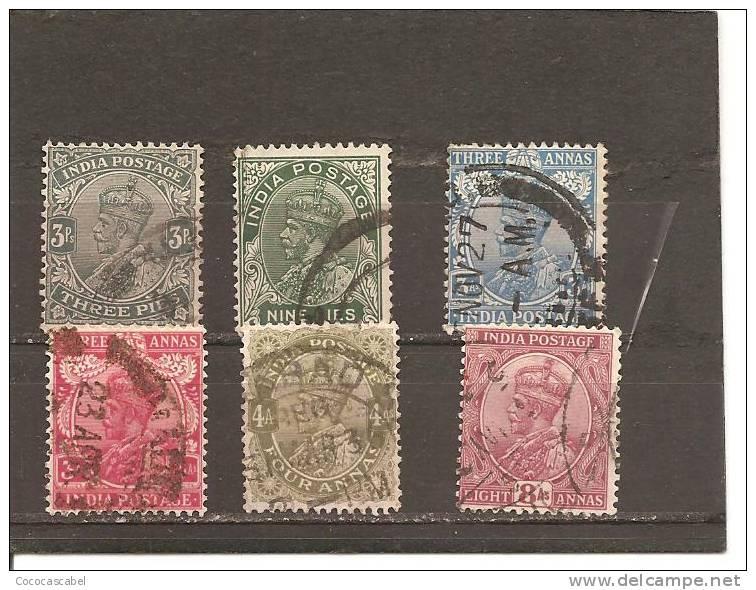 India Inglesa - Nº Yvert 113-113A-117-117A-118-119 (usado) (o). - India (...-1947)