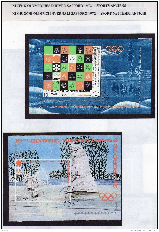 Olympia Album 1972 Jemen Sets Plus Blocks 147/8,161/2+172/3 O 41€ Landkarte Stadion Sport Bloque Bloc M/s Sheet Bf Yemen - Winter (Other)