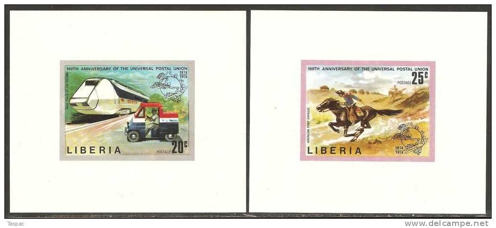 Liberia 1974 Mi# 907-912 B ** MNH - Presentation Sheets - U.P.U.