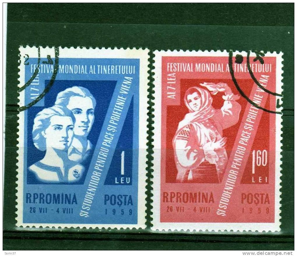 Serie Completa De Romania Año 1959 Yvert Nr.1633/34 Usada - 1948-.... Repúblicas