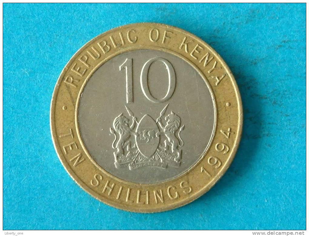 10 SHILLINGS 1994 / KM 27 ( For Grade, Please See Photo ) !! - Kenya