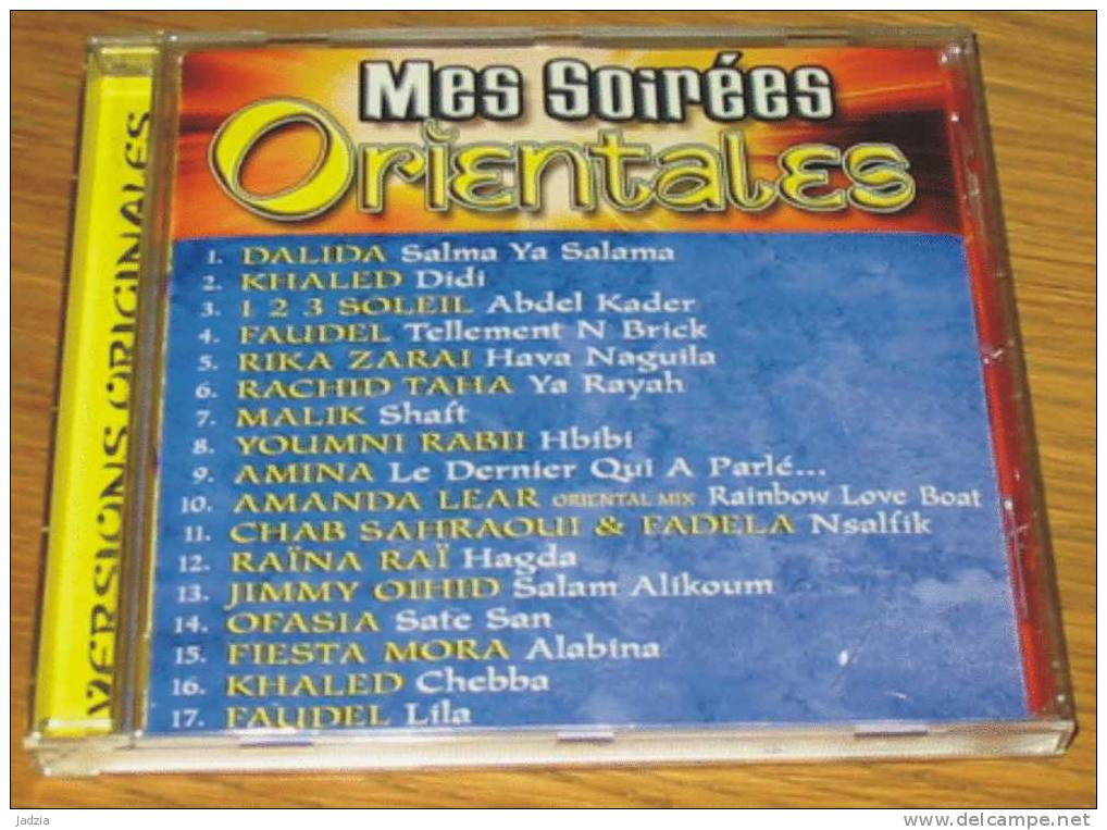 CD Mes Soirées Orientales 17 Titres 2001 - Hit-Compilations