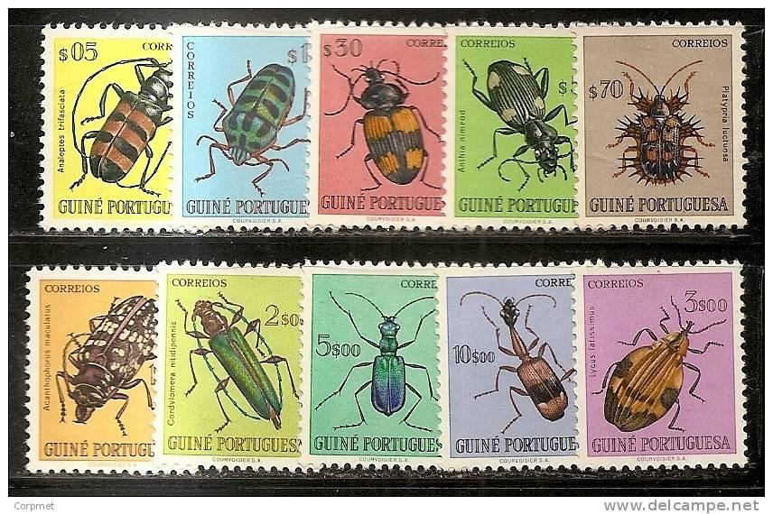 FAUNA - INSECTS - 1953 GUINE PORTUGUESA  -Yvert # 281/290 Complete Set - UNUSED (no Gum) - Insekten