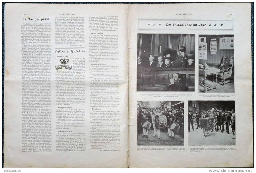 LA VIE ILLUSTRÉE N°614 - 23 JUILLET 1910 - MUSÉE BALZAC - AÉROPLANE - GARDES-MALADES - SOUVERAINS BELGES - CYCLISME - - Giornali