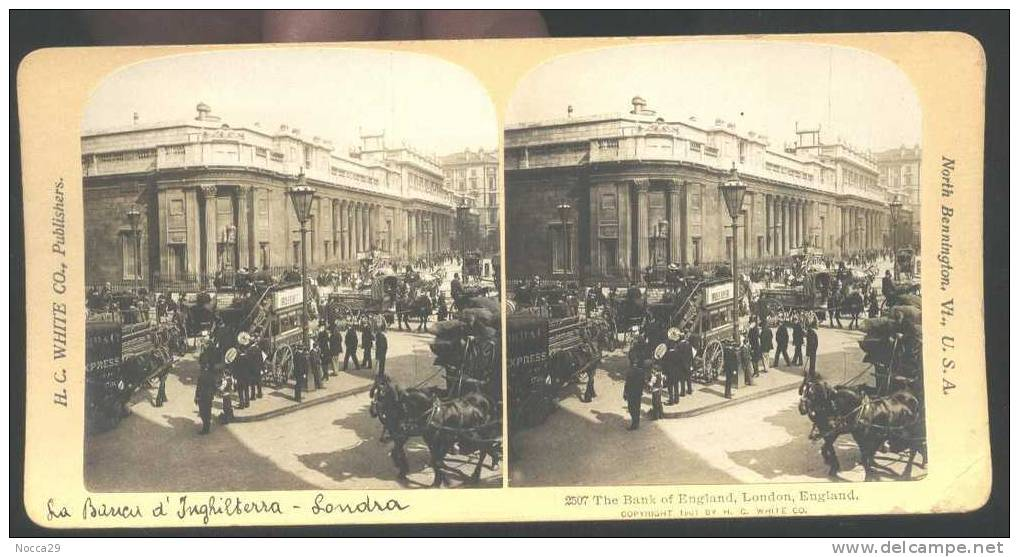 UNITED KINGDOM - LONDON 1900 - THE BANK OF ENGLAND. STEREOWIEW - Stereoscopic