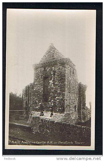 Early Real Photo Postcard St Andrews Castle S.E. Or Beaton's Tower Fife Scotland - Ref 517 - Fife