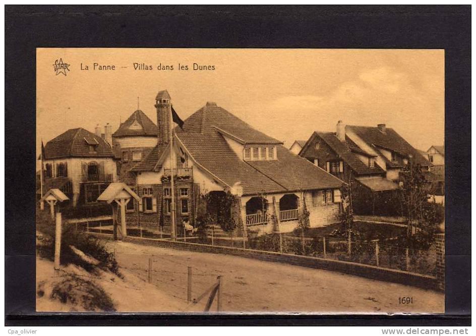 BELGIQUE LA PANNE Villas Dans Les Dunes, Ed Star 1691, 193? - De Panne