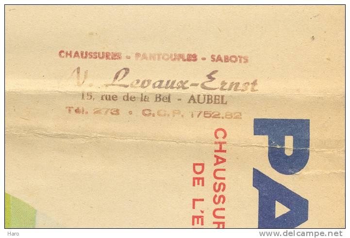 """Très Joli Protège Cahier Publicitaire - Chaussures """"PATALO""""- Levaux Ernst à Aubel (b25) - Chaussures"""