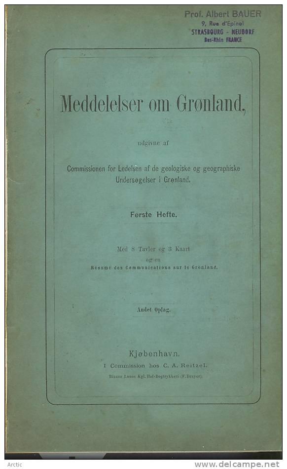 Greenland, Title Is MEDDELELSER OM GRØNLAND, Hefte. En Résumé Des Communications Sur Le Grönland. - Scandinavian Languages