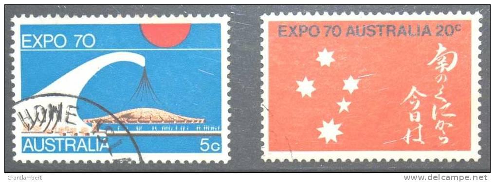 Australia 1970 Expo (2) VFU - 1966-79 Elizabeth II