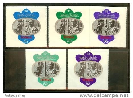 TONGA 1977 MNH Stamps QE II Silver Jubilee Sg598-602 - Royalties, Royals