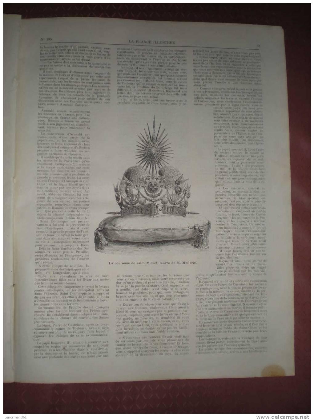 LA FRANCE ILLUSTREE 30/06/ 1877 EVEQUE NANTES GRAND DUC MICHEL ARMEE RUSSE COURONNE SAINT MICHEL MELLERIO CHAM ECHECS RE - Magazines - Before 1900