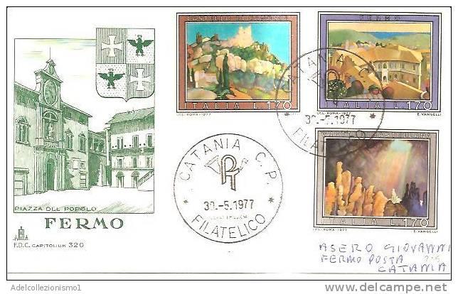 37900)lettera F.d.c. Serie Turistica Con 3x170£ + Annullo - 6. 1946-.. Repubblica