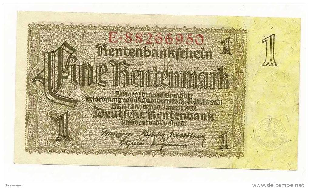 Germania 1 Marco 1937 SPL - P.173 - [ 4] 1933-1945: Derde Rijk