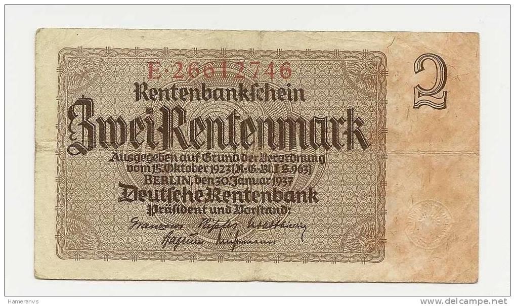 Germania 2 Marchi 1937  -  P.174 - [ 4] 1933-1945: Derde Rijk