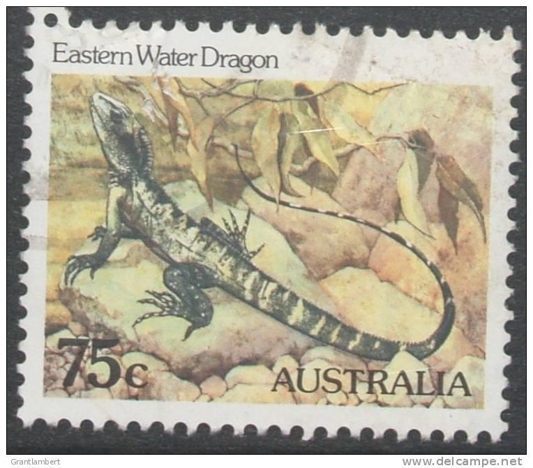 Australia 1981 Wildlife 75c Eastern Water Dragon FU - 1980-89 Elizabeth II