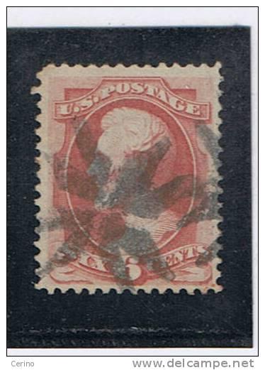 USA:  1870  A. LINCOLN   -  6 C. CARMINIO  US. -  UNI. 46 - 1847-99 General Issues