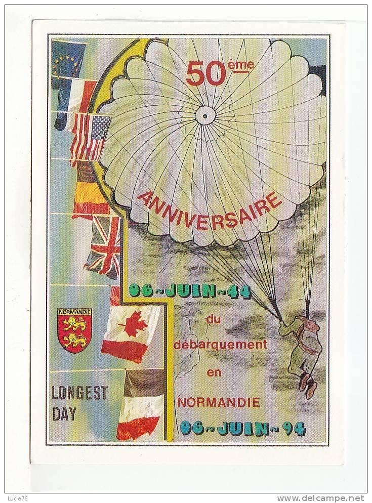 50ème Anniversaire Du Débarquement En NORMANDIE -    LONGEST DAY  - Les Grands Lieux Du Débarquement - N° D 780 - Guerre 1939-45