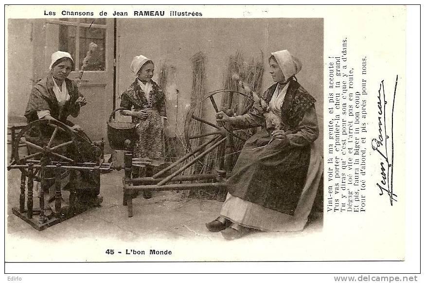 - Metiers Fileuse Au Rouet -écrite  1951 (réédition) Illustration Des Chasons De Rameau - - Artisanat