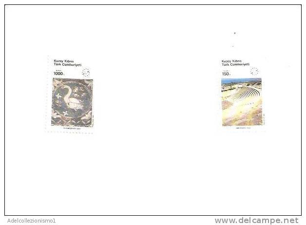 40923)francobolli CIPRO Turca Serie 1990 - Turismo , Anno Europeo - Dentellati - Cipro