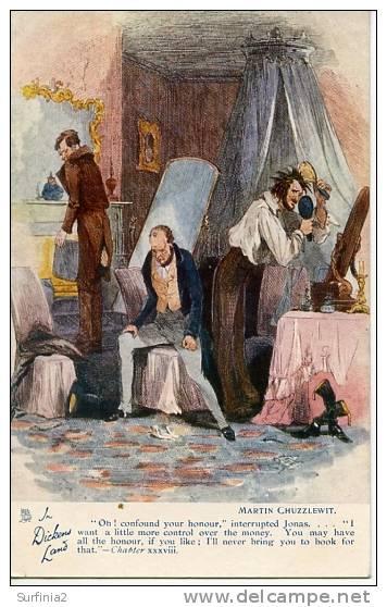 "DICKENS - MARTIN CHUZZLEWIT By PHIZ - OILETTE ""OH, CONFOUND YOUR HONOUR"" - Autres Illustrateurs"