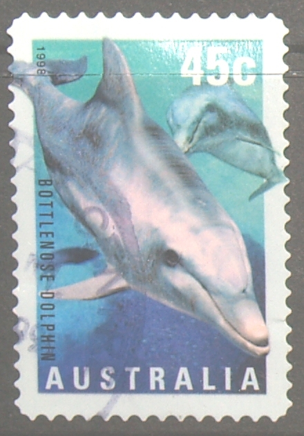 Australia 1998 Year Of Ocean 45c Bottlenose Dolphin Used - 1990-99 Elizabeth II