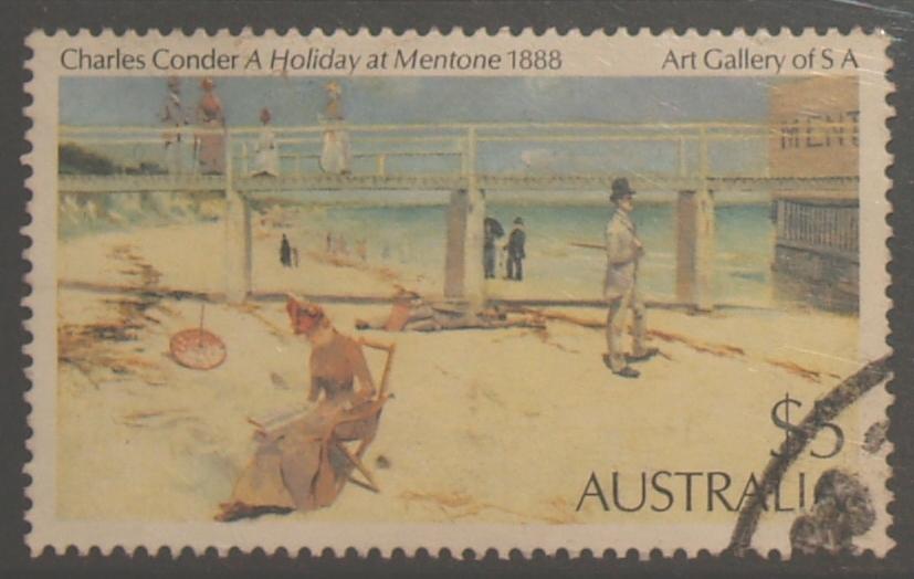 Australia 1981 Painting $5 Mentone- Conder - 1980-89 Elizabeth II