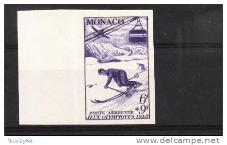 W. Olympic 1948 IMPERF Stamp Of Monaco - Winter 1948: St-Moritz