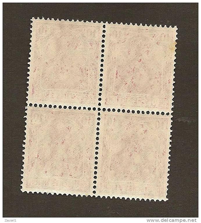 Germania Michel Nr. 86 I - 10 Pfennig Friedensdruck Im Postfrischen Viererblock - Deutschland