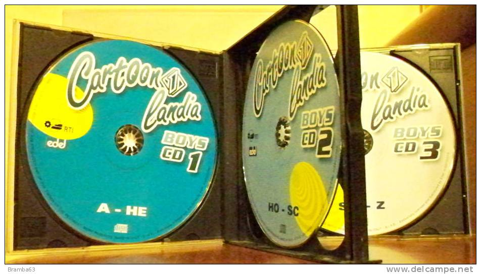 CD CARTOON LANDIA BOYS - n. 3 cd di musica per bambini ...