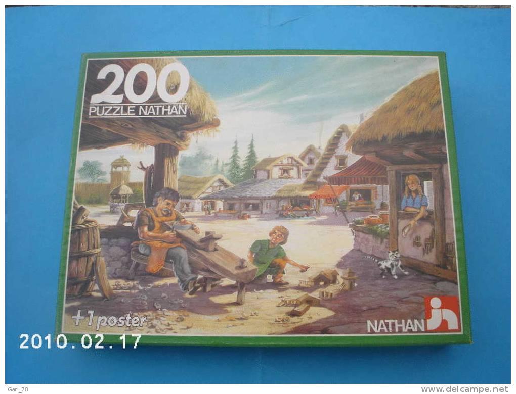 PUZZLE NATHAN  De 1988  : AU TEMPS DES GAULOIS   - 200 Pièces, - Puzzles