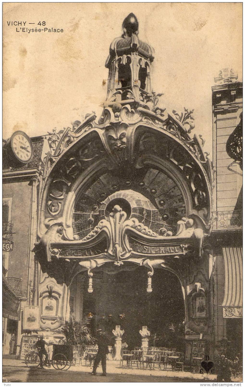 VICHY L ELYSEE PALACE TRIPORTEUR  ANIMEE - Vichy