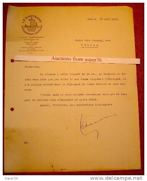 Etablissement Horticole, I. P. Hartmann, Gent 1937 - Belgique