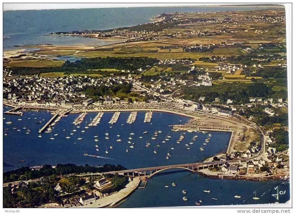 La Trinité Sur Mer--1976---Vue Aérienne--Le Pont Kerisper Et Le Port ,cpm N° MX 805  éd JOS - La Trinite Sur Mer
