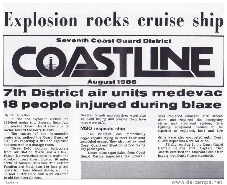 Coastline Seventh Coast Guard District Publication 1986 Miami, Florida - Esercito/Guerra