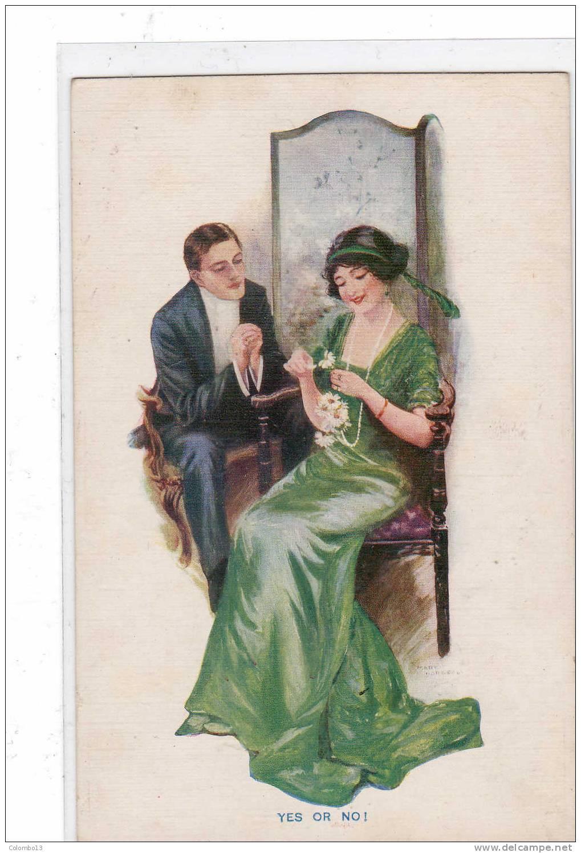ILLUSTRATEUR  MARY ???  YES OR NO CARTE ROMANTIQUE CARLTON EDITION - Künstlerkarten