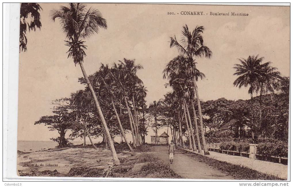 GUINEE FRANCAISE CONAKRY BOULEVARD MARITIME - Guinée Française