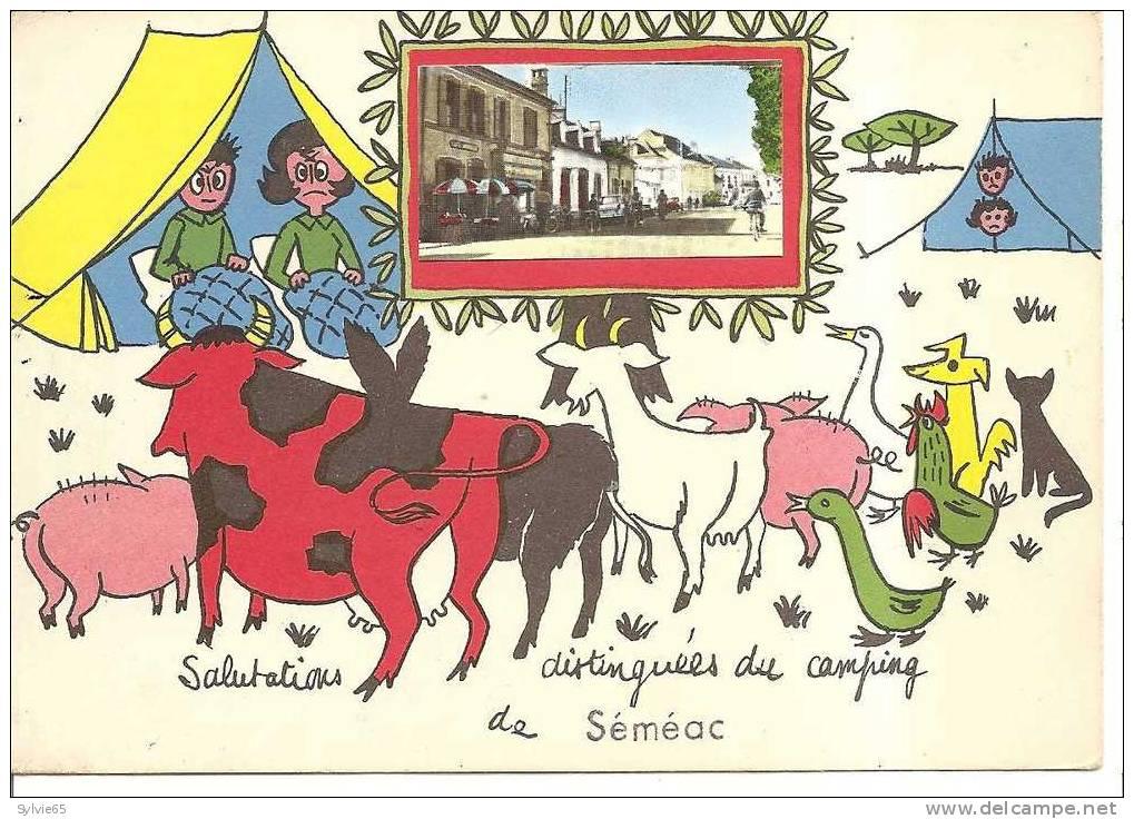 SEMEAC- Salutations Distinguées Du Camping De  Semeac(série Camping) - Frankrijk