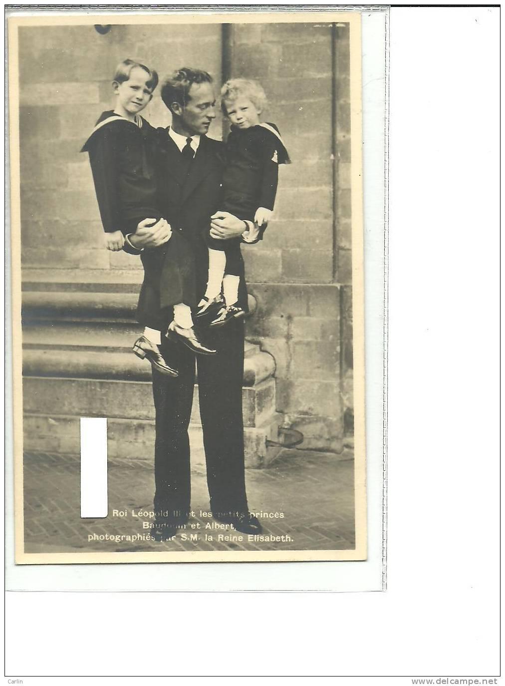 Belgique  Leopold III  Albert II  Baudouin - Familles Royales