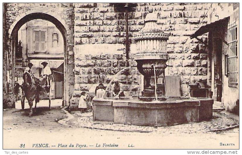 06 - Vence - Place Du Peyra, La Fontaine - Vence