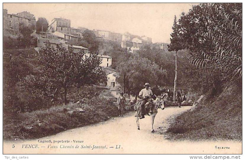 06 - Vence - Vieux Chemin De Saint-Jeannet (âne) - Vence