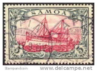 German Samoa #69 XF Used 5m From 1900, Expertized - Colony: Samoa