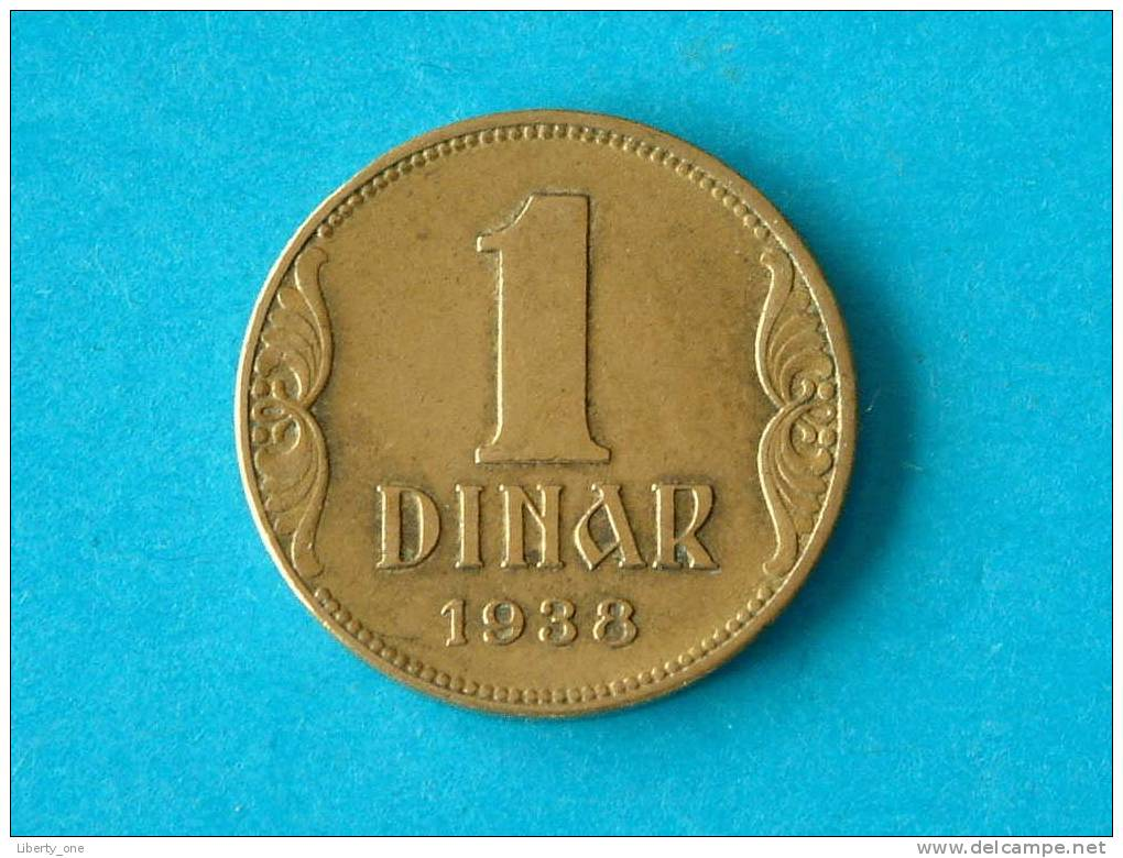 1938 - 1 DINAR / KM19 ( For Grade, Please See Photo ) !! - Joegoslavië