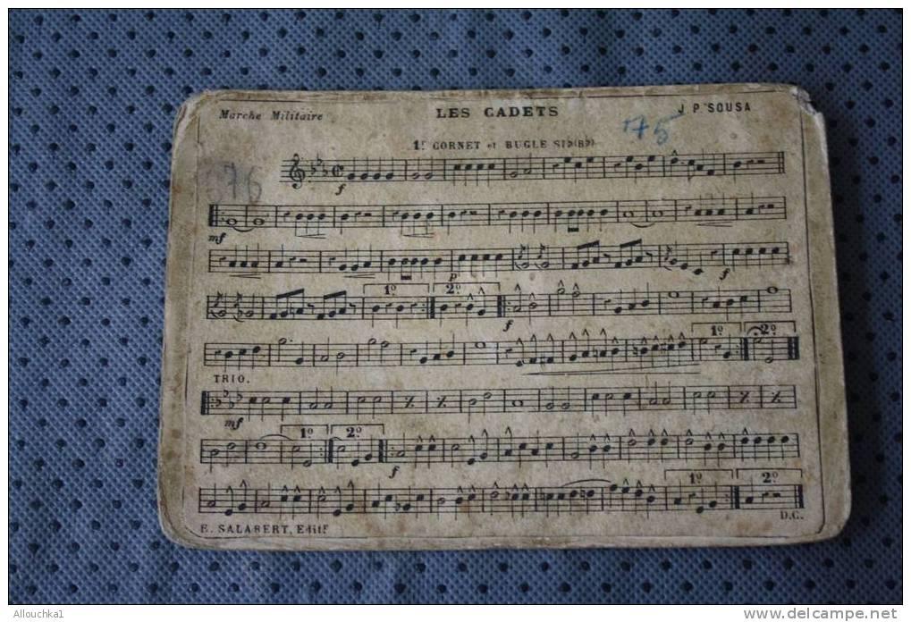 MUSIQUE PARTITION RECTO VERSO POLKA DES PACHAS MARCHE ALLEGRO G. ALLIER LES CADETS MARCHE MILITAIRE P. SOUSA  CORNET & B - Musik & Instrumente