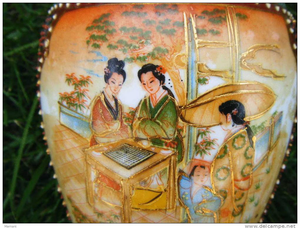 Vase Asiatique -hauteur 20cm-vendu Avec Le Napperon---- - Art Asiatique
